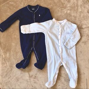 Polo Baby Footed Onesie